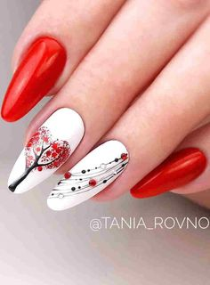 In order to give you some inspirations on making Valentine day nails acrylic art designs, we have specially collected more than 90 images of Valentine& nail art, which are very suitable for diy. I hope you can find a satisfactory style from them. Red Nail Art, Cute Nail Art, Cute Acrylic Nails, Red Nails, Cute Nails, Pretty Nails, Acrylic Art, Nail Art Designs Videos, Red Nail Designs