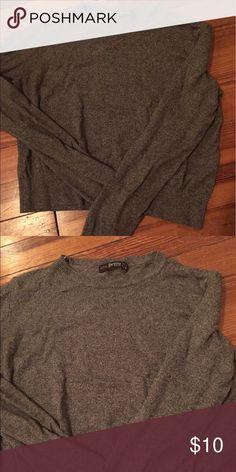 Cropped Gray Sweater Size M, thin sweater Bershka Tops Sweatshirts & Hoodies