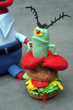 Another image of Felt Mistress' plush homage to SpongeBob SquarePants for the Nautical Nonsense show at LA's Gallery Nucleus...