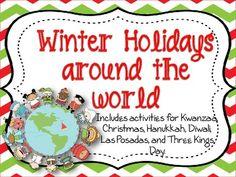 Winter Holidays Scrapbook Christmas Kwanzaa Hanukkah Las P Posadas Diwali