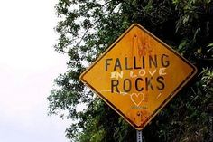 falling in love rocks. Love Rocks, Graffiti, Funny Signs, All You Need Is Love, My Heart, Happy Heart, Falling In Love, Lovey Dovey, Make It Yourself
