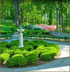 Beautiful gardens at Winterthur Museum, Garden & Library. Winterthur is the premier museum of American decorative arts. Its 60-acre naturalistic garden is among the country's best and includes an award-winning children's garden.