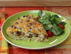 Mexican Quiche with Brown Rice Crust
