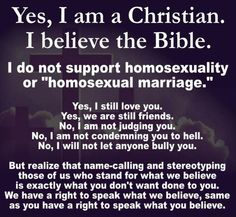 Yes, I am a Christian ...