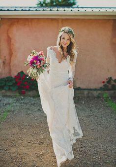 Tolles Kleid für die Hippie Hochzeit