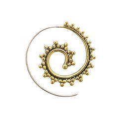 Spiral earrings. tribal earrings. hoop by Umanativedesign on Etsy