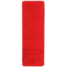 Loft Collection Shag Solid Design Red 2 ft. 2 in. x 6 ft. Runner
