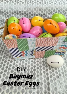R & R Workshop: DIY Baymax Easter Eggs- Big Hero 6 kids craft