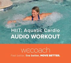HIIT: Aquatic Cardio a interval workout for all fitness levels. Water Aerobic Exercises, Swimming Pool Exercises, Pool Workout, Aerobics Workout, Abdominal Exercises, Water Workouts, Abdominal Workout, Weight Lifting, Weight Loss