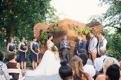 wedding ceremony - photo by Kimberly Brooke http://ruffledblog.com/farmhouse-fete-wedding-inspiration