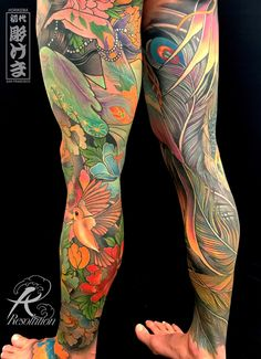 Legs by Kevin Marr at Resolution SF San Francisco Tattoo Japanese Style, Traditional Japanese Tattoos, Japanese Sleeve Tattoos, Leg Sleeve Tattoo, Best Sleeve Tattoos, Arm Tattoo, Leg Tattoos Women, Girl Tattoos, Tattoos For Guys