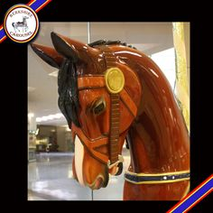 This is Beauty, one of our hand carved wooden horses that will go on the carousel. Photo by Katy Levesque 2013.