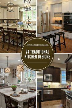 Luxury Kitchen See 24 traditional kitchen design ideas Luxury Kitchen Design, Best Kitchen Designs, Luxury Kitchens, Interior Design Kitchen, Cool Kitchens, Home Decor Kitchen, Rustic Kitchen, Kitchen Ideas, Luxury Home Decor