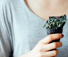 Kale Caesar Nori Wrap   http://www.nutritionstripped.com