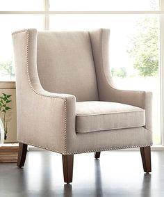 Look what I found on #zulily! Espresso & Linen Armchair #zulilyfinds