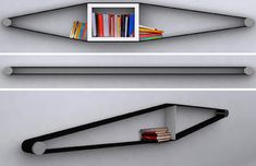 What an awesome idea for shelving