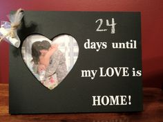 Countdown Chalkboard Frame-LOVE. $15.00, via Etsy.