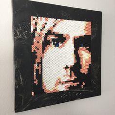 Kurt Cobain portrait hama perler beads by aslaugsvava