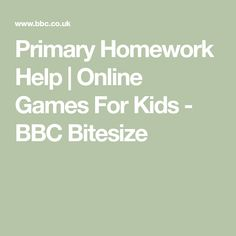 Primary Homework Help | Online Games For Kids - BBC Bitesize Fun New Games, Create Your Character, Online Games For Kids, Math Games, News Games, First Day Of School, Primary School, Help Me