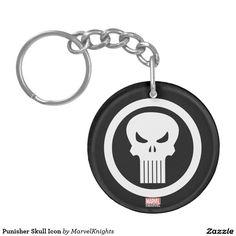 Skull Ace double sided key ring