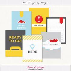 Oscraps :: Shop by Designer :: Danielle Young :: Bon Voyage Journaling Cards