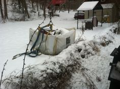BullBags can be picked up over fences, stone walls, from 2nd story scaffolding, in/on/under snow banks and snow piles.