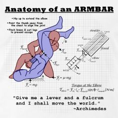 Anatomy of an Armbar T-Shirts