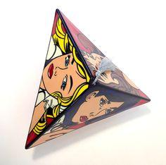 'POP ART PYRAMID' by Lisa Dirie Ceramic Art for Sale - ART101 Art Gallery & Framing