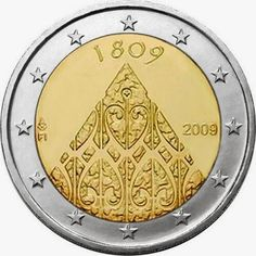 2 euro coins Finland 2009, 200 years of Finnish autonomy. Commemorative 2 euro coins from Finland