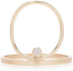 White/Space Carlo 14K Gold Diamond Ring