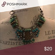 Anthropology necklace Beautiful green shades necklace Anthropologie Jewelry Necklaces