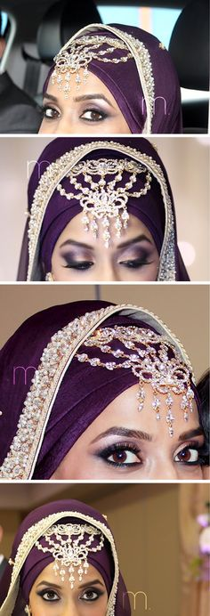 I LOVE THIS HIJAB!! and the headpiece is cute too :) #WeddingPlanning, #MuslimWedding www.PerfectMuslimWedding.com