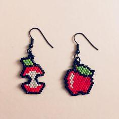 Seed Bead Tutorials, Seed Bead Patterns, Beading Patterns, Brick Stitch Earrings, Seed Bead Earrings, Beaded Earrings, Bead Jewellery, Beaded Jewelry, Bead Loom Bracelets