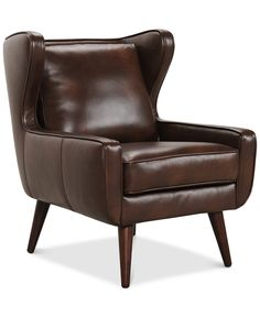 Bray Modern Wing Chair - Chairs & Recliners - Furniture - Macy's