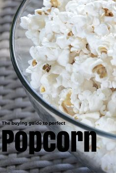 The tools you need to make the perfect bowl of popcorn.