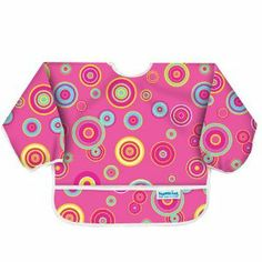 Bumkins Waterproof Sleeved Bib - Pink Supernova by Bumkins. $17.94. Full coverage, adjsutable sleeves with elasticized cuffs. Catch all pocket to contain messes. Lead safe, PVC, phthalate, BPA and vinyl free. Hand or machine washable. 100% Polyester. Made from Bumkins proprietary silky-soft waterproof fabric. From the Manufacturer                Bumkins top to selling waterproof bibs are made from a soft, lightweight fabric that is truly unique. These bibs com...