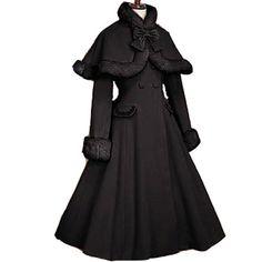 gothic lolita capa adultos princesa belle traje medieval vestido lolita manga larga con ciudad del fiesta de halloween para mujeres de encargo en Disfraces de Moda y Complementos en AliExpress.com | Alibaba Group