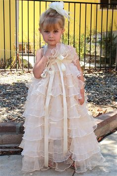 Flower Girl Tutu Dress bridesmaid chic with layers by VanelDesign, $65.00