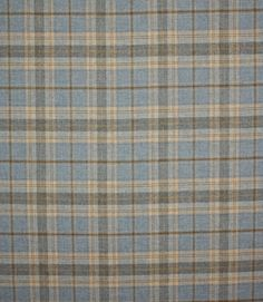 This subtle blue wool tartan fabric is great for curtains, blinds and upholstery. 100% wool so inherently fire retardant. Looks amazing made up as curtains, especially interlined. We have our Just Fabrics wingback chair range covered in these Balmoral tartans, great for upholstery very hard wearing. They can be viewed in store or in the furniture section. Good designer tartans are retailing for anything up to £120/m so these are great value!