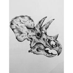 Triceratops Dotwork