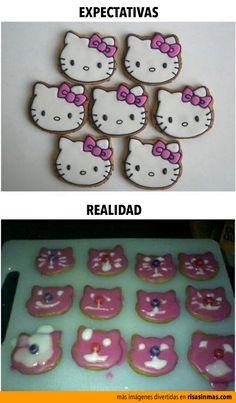 Expectativas vs Realidad: Haciendo galletas de Hello Kitty.