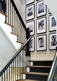 stair landing art wall gallery