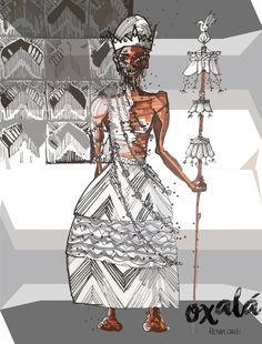 Epa Baba, Orisha, Artist, Behance, Google, Painting, Spiritual Gifts, Dark Clothing, African Women
