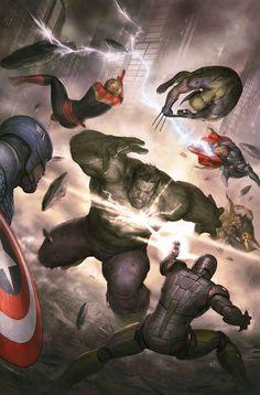 #Hulk #Fan #Art. (Avengers Vol.5 #28 Cover) By: Agustin Alessio. (Hulk vs Avengers!) (THE * 3 * STÅR * ÅWARD OF: AW YEAH, IT'S MAJOR ÅWESOMENESS!!!™)[THANK Ü 4 PINNING!!!<·><]<©>ÅÅÅ+(OB4E)