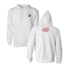 Lana Del Rey limited edition cherry hoodie sold out size small Lana Del Rey Merch, Lust For Life, White Hoodie, Hoodies, Sweatshirts, Style Inspiration, Cherry, Jackets, Outfits