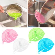 2016 Hot Sale 1PC Durable Clean Leaf Shape Rice Strainer Sieve Beans Peas Cleaning Gadget Strainer for Kitchen Clips Tools(China (Mainland))