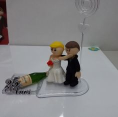 Lembrança - Casal com champagne - bodas de prata (25 anos)