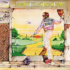 """Elton John """"Goodbye Yellow Brick Road"""" 1973 - definitely inspired by The Wizard of Oz - awesome platform shoes"""