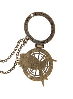 The Hunger Games: Catching Fire Mockingjay Secret Quote Necklace Hunger Games Mockingjay, Hunger Games Catching Fire, Hunger Games Trilogy, Hunger Games Merchandise, Book Jewelry, Geek Fashion, Great Movies, Games To Play, Mocking Jay