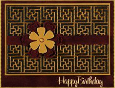 """#4106006 HOTP  """"Woven Lattice"""" #3/3  card sample  (Note to self: Perfect Pearls powders were used in creating this card)  (Site: step-by-step instructions)"""